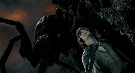Shelob, giant spider, Tolkien, LOTR, Frodo, Sam, Lord of the Rings, the Two Towers,