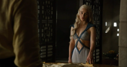 Let's just go ahead and call this outfit Daenerys' post-coital lounging duds.