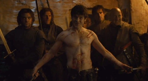I found myself wondering whether Ramsay had sustained those wounds on the way to the dungeon, or whether he got them from having sex. Then I decided I didn't want to know.