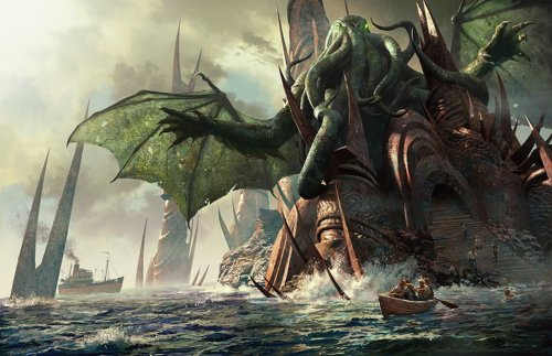 H.P. Lovecraft's old god Cthulhu: bad, bad  numinous!