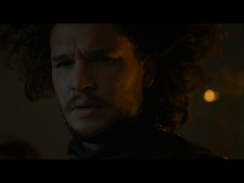 Jon Snow, leading. Not to be confusing with Jon Snow, brooding. Or Jon Snow, constipated.